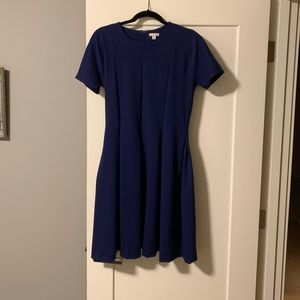 Gap women's fit and flare dress 8 Tall in purple
